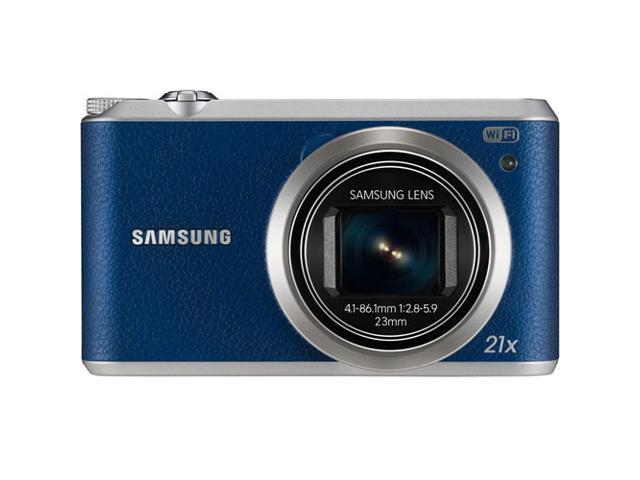 Samsung WB350 Smart Digital Camera, 16MP, 3 inch Touch Screen, Full HD, WiFi and NFC (Blue)