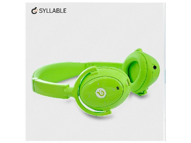 Syllable wireless bluetooth headphone noise reduction headsets for iphone 4 5 samsung cellphone with microphone green
