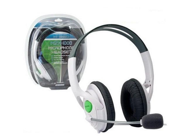Xbox 360 MZX-1000 Lives Stereo Microphone Headset White Brand New