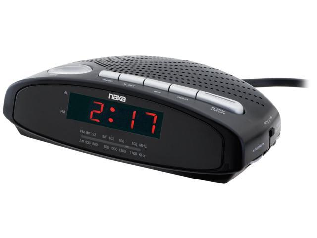 Naxa NX-163 Digital LED Display AM/FM Alarm Clock Radio