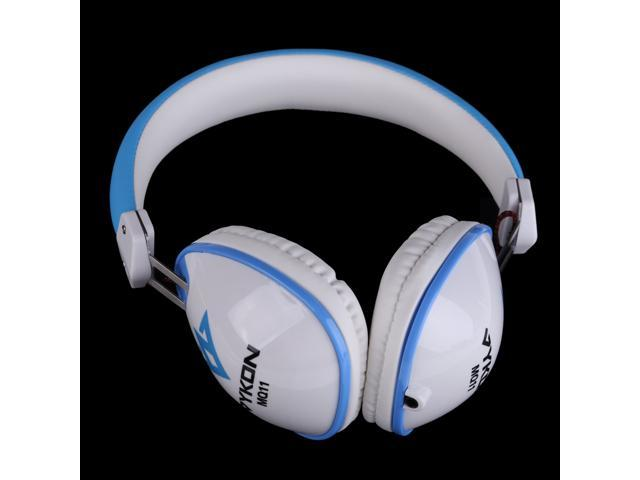 New 3.5mm Stereo Noise Cancelling Headset Headphone for iPhone Laptop White