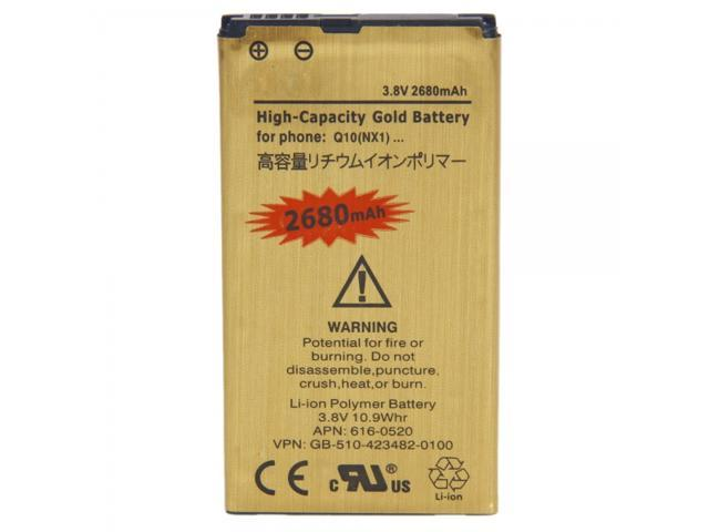 New 2680mA Rechargeable Lithium Battery for Blackberry Q10 Golden