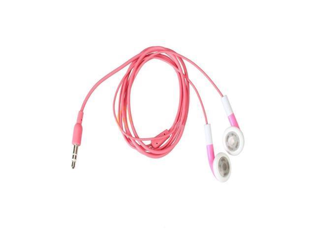 New Pink Headphone Earphone for iphone iPod MP3 NANO