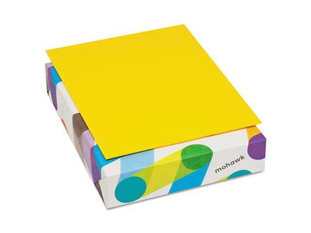 Mohawk 472808 BriteHue Multipurpose Colored Paper, 20 lb, 8 1/2 x 11, Sun Yellow, 500 Sheets/Ream, 1 Pack