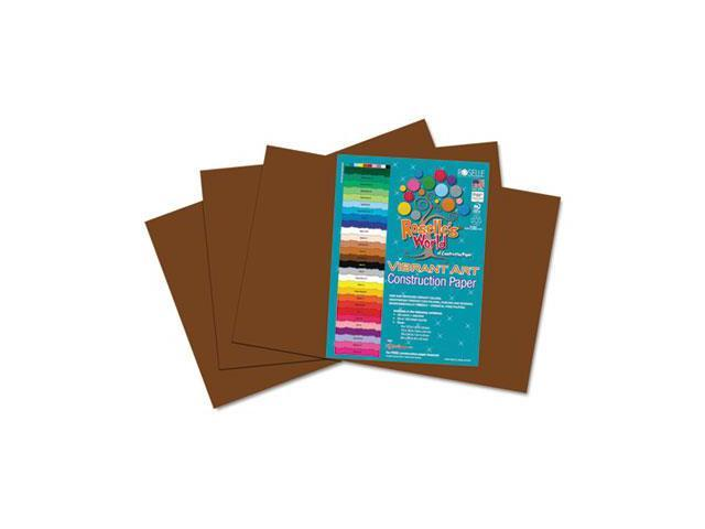 Roselle Heavyweight Construction Paper, 58 lbs., 12 x 18, Dark Brown, 50 Sheets/Pack