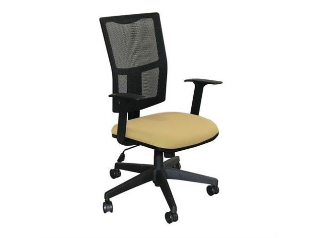 Fermata Task Mesh Chair with Forsythia Fabric and Black Base