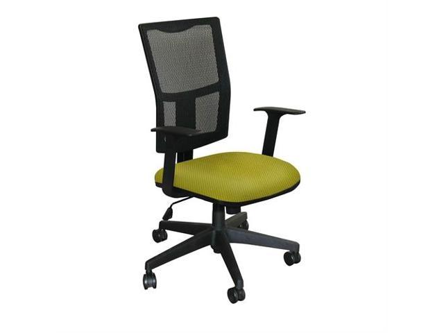 Fermata Task Mesh Chair with Lime Fabric and Black Base