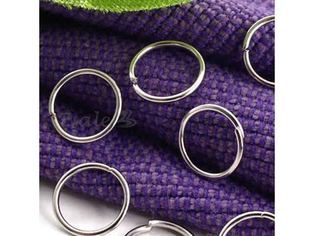 1000X Silver Tone Metal Jump Split Rings Connectors 8mm