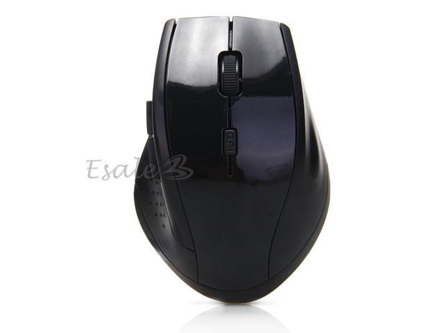 2.4G Wireless Optical Mouse Scroll Wheel Nano USB Receiver for PC Laptop Black