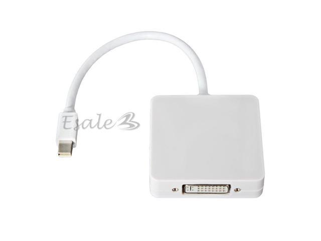 3in1 Mini DisplayPort to DP HDMI DVI Adapter Cable for MacBook Pro Air