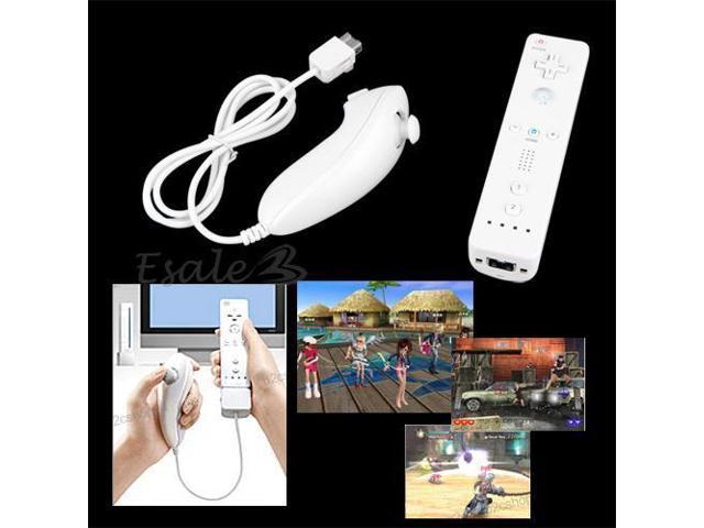 Remote and Nunchuk Controller Set for Nintendo Wii Game