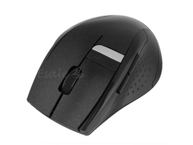 2.4G Wireless Optical Mouse Scroll Wheel USB Receiver for PC Laptop Black