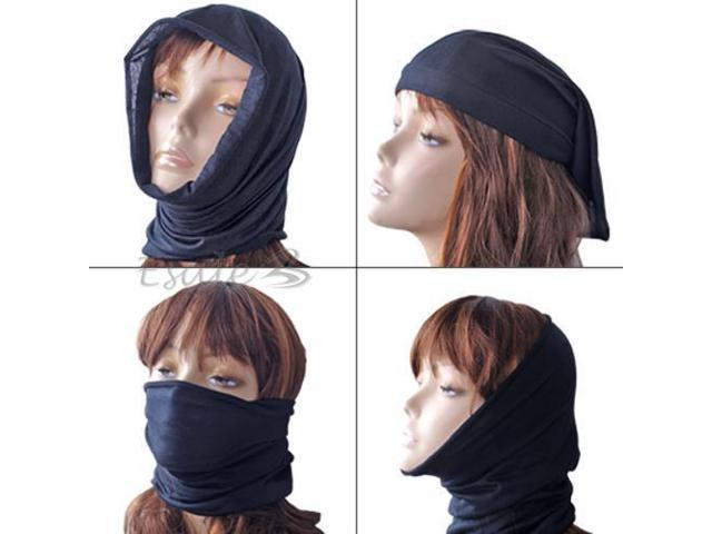 Black Multifunctional Headwear Scarf Mask Outdoor Sports New
