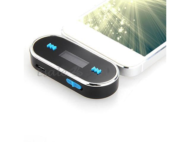 In-Car Handsfree FM Radio Transmitter 3.5mm Audio for iPhone 5 Black