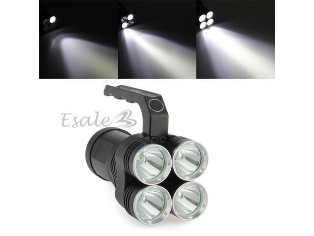 5000LM CREE XM-L T6 White LED Flashlight Lamp Torch 4 Modes Hiking Portable