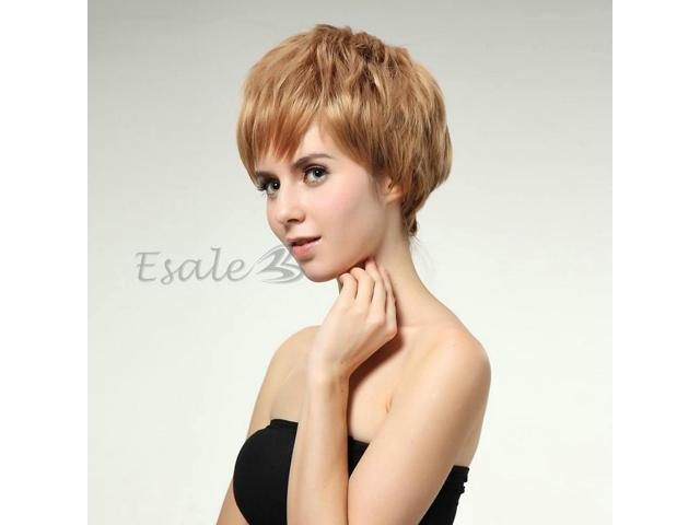 Women's Fashion Short Blonde Curly Hair Wig Wigs Party Cosplay 10