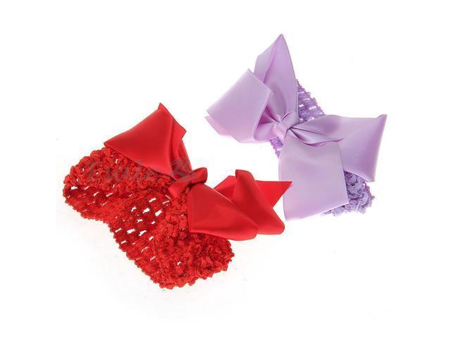 2x Sweet Girl's Women's Butterfly Bow Hairband Headband Hair Accessory