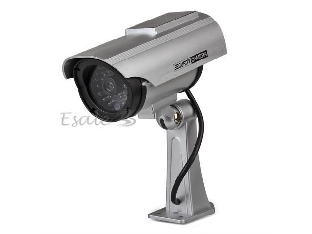 Dummy Solar Powered LED Bullet Security Surveillance Camera CCTV Home