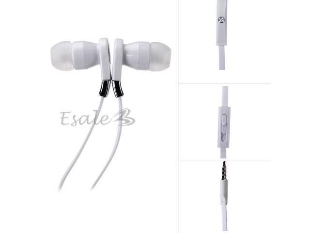 Mosidun In-ear Earphone with MIC Volume Control Noodle Style for Samsung White