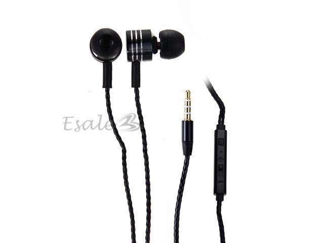 Mosidun In-ear Earphone with MIC Volume Control Twist-Style for Samsung Black