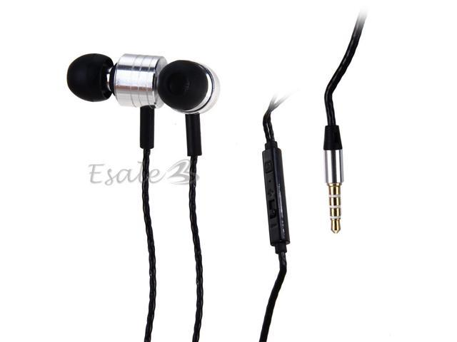 Mosidun In-ear Earphone with MIC Volume Control Twist-Style for Samsung Silver