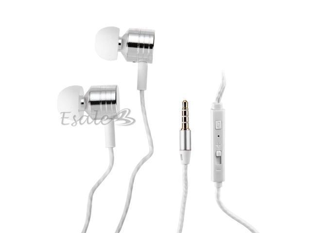 Mosidun In-ear Earphone with MIC Volume Control Twist-Style for iPhone Silver