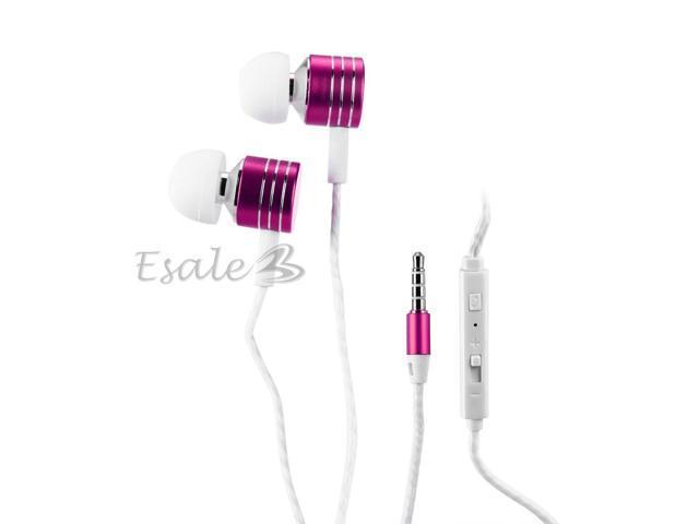 Mosidun In-ear Earphone with MIC Volume Control Twist-Style for iPhone Fuchsia