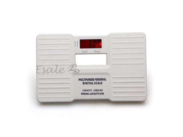 150kg/300g Portable Digital LCD Personal Body Weight Weighing Scale White