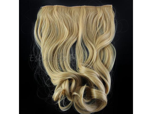 Women Wig Clip On In Curly Wavy Hair Extensions Bouncy Thicken Weft Hairpiece