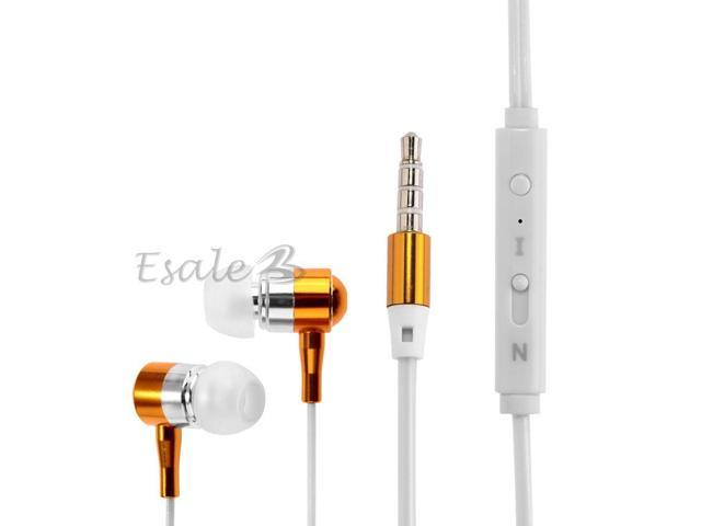 BSBESTE Luminous Wire 3.5mm Stereo Earphone Headphones with MIC for Cellphone