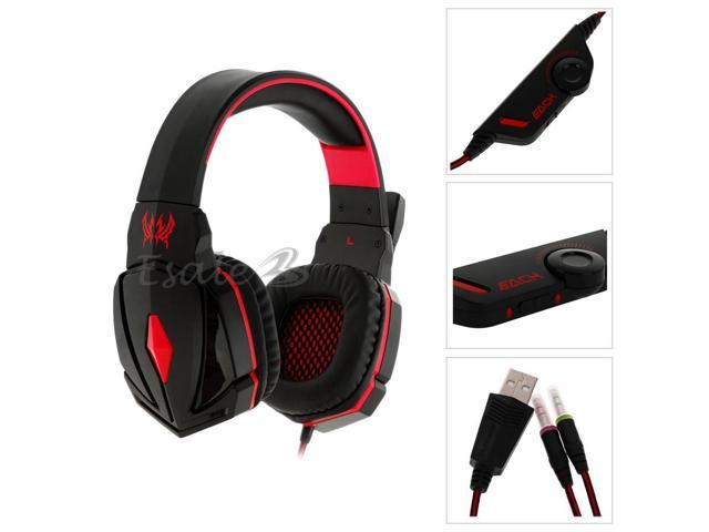 Stereo Gaming Headphone Headset with MIC Volume Control for Computer Game