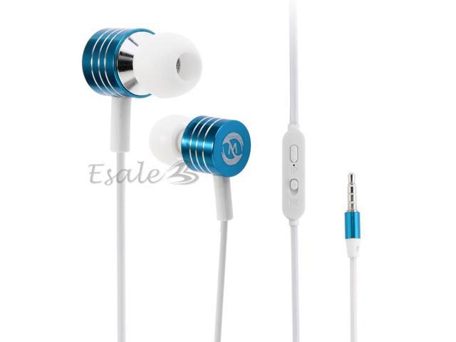 Mosidun Luminous Wire 3.5mm Stereo Earphone Headphone Earbud MIC for Mobile