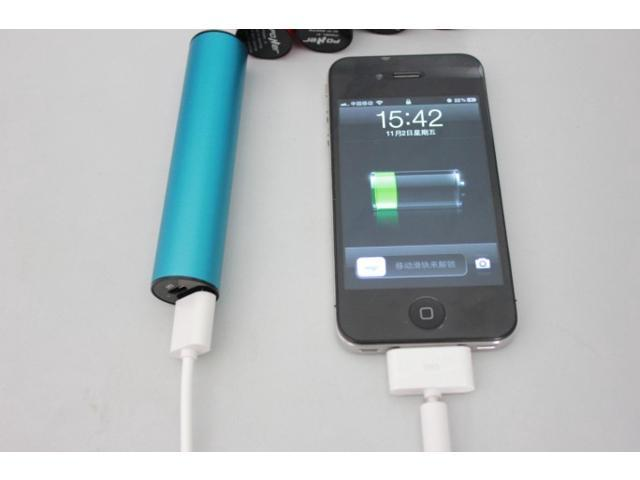 Portable 2200mAh Power Bank USB Backup Battery Charger With Aluminum Shell for Google Nexus 7 HD iPhone 5 5C