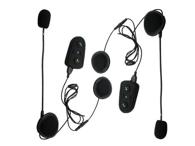 2x100M HM-508(NO FM) Motorcycle Bluetooth Interphone Helmet Intercom Headset Motorcycle Speakers Handsfree