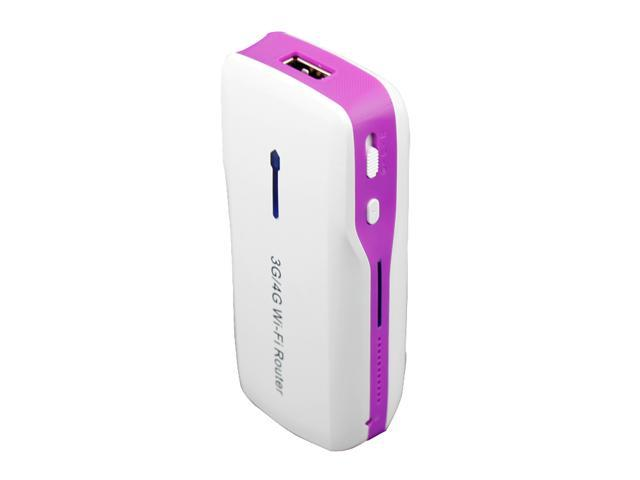 Purple Wireless Router of 3G Mobile Power H-G100 3G Wireless Router and 5200mAh Power Bank, 3G hotspot, Mini Wifi AP