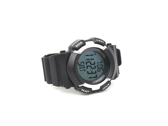 Chest Strap Pedometer Heart Rate Monitor Calories Digital Sports Watch with LCD Monitor Exercise Memory Mode 3ATM Water Resist