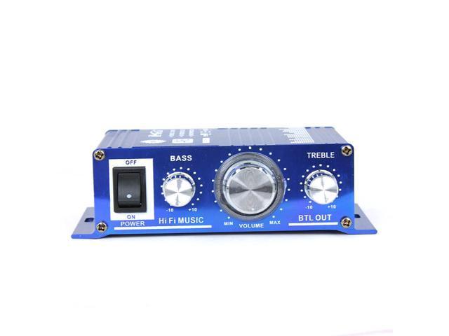A6 Car/Motorcycle/Golf Cart Hi-Fi Stereo Audio HiFi Sound Amplifier Zinc Alloy Support DVD CD MP3 Player FM Transmitter 12V DC