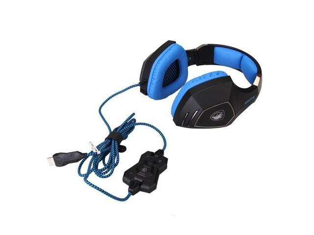 SADES A-60 Vibration Function and 7.1 Surround Sound Professional Gaming Headphones Games Headset for Razer Gamer