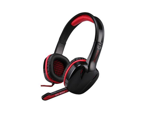 SA-904 Gaming Headset With Mic and Remoter Stereo 7.1 Surround USB Gaming Headphone For PC Gamers