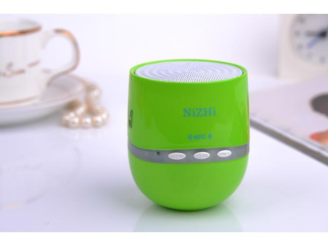 Mini Wireless Speaker NiZHi Bluetooth Speaker TT-026 with NFC + FM Radio + 3.5mm Line in + Hand-free Call + Colorful Lights