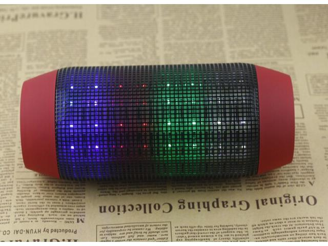 LED Shining Speaker Pulse Portable Bluetooth Speaker with MIC Outdoor Speaker for iPhone and Mobile Phone Supporting NFC TF Card Playing