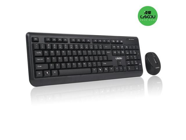 Lindou 2.4 GHz Wireless Keyboard & Mouse Combo W/ USB Receiver For PC Laptop D9100