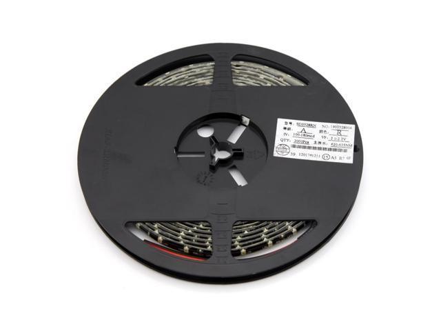 12V Flexible Ribbon Warterproof LED Strip Light 5 Meters Spool 300 LEDs Yellow Light