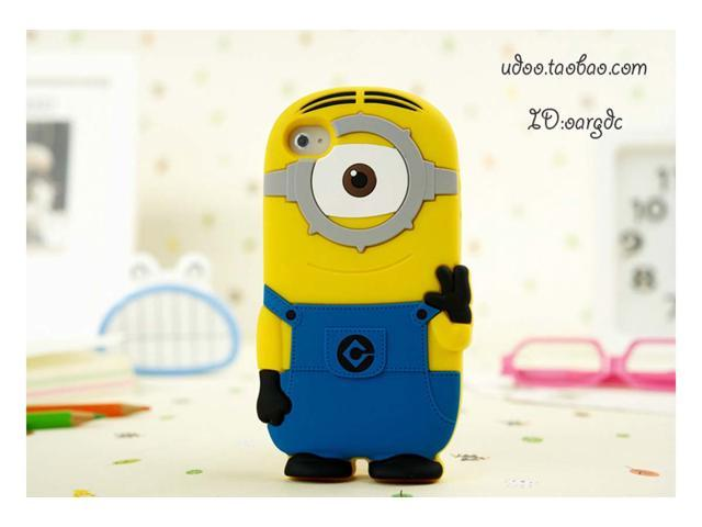 Yoursfs Despicable Me 3D Soft Silicone Cover For IPhone 4 4s Case With Retail Box IP4S004-1
