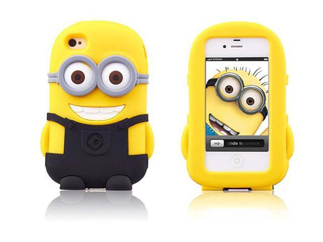 Yoursfs Despicable Me 3D Soft Silicone Cover For IPhone 4 4s Case With Retail Box IP4S012-2