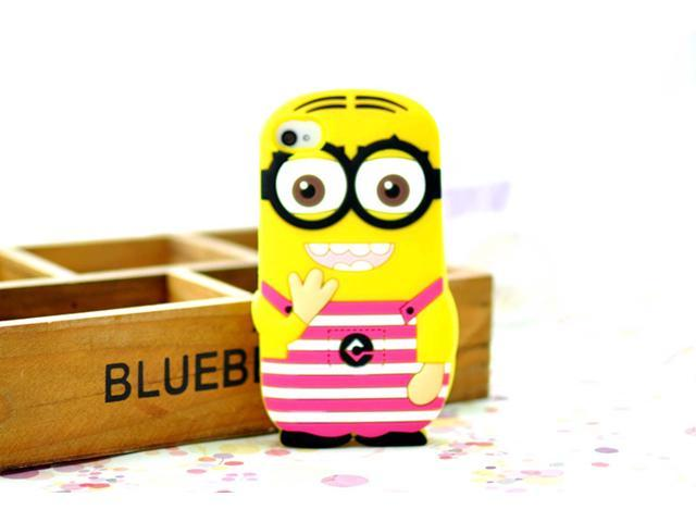 Yoursfs Despicable Me 3D Soft Silicone Cover For IPhone 4 4s Case With Retail Box IP4S013-6