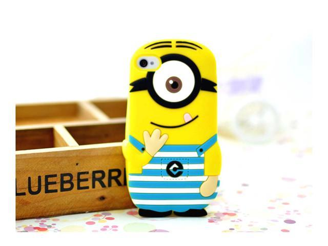 Yoursfs Despicable Me 3D Soft Silicone Cover For IPhone 4 4s Case With Retail Box IP4S013-2