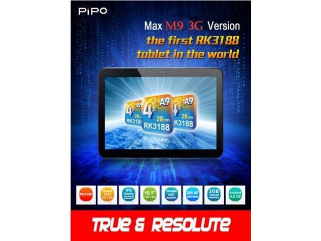 Built-in 3G Pipo M9 Pro 3G Quad Core Tablet PC RK3188 2G RAM 32GB Bluetooth Android4.2 10.1