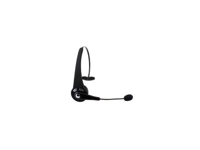 BTH-068 Black Rechargeable Wireless Over-the-head Bluetooth Headset with Microphone, Featuring Noise Reduction / Multi-Point / 8 Hours Talk Time ...