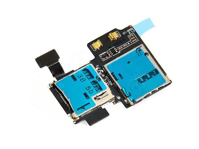 Sim Card And Memory Card Connector Flex Cable Replacement Part For Samsung Galaxy S4 i9500